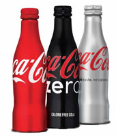 Coke in an aluminum bottle.  Yeah, we know.